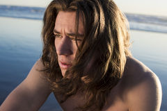 Gajo da praia do surfista fotografia de stock