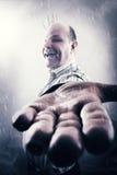 Gajo estranho e louco na neve foto de stock royalty free