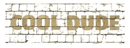 Gajo fresco impresso na parede de tijolo estilizado Inscrição Textured para seu projeto Vetor ilustração stock