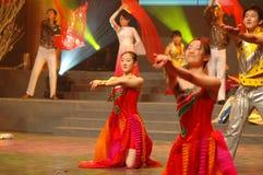 Galà di festival di primavera del Jiangxi di devozione e di amore dance-2007 Immagini Stock