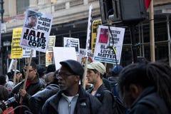 2016 galà repubblicani Anti-Trump protestano NYC Fotografia Stock Libera da Diritti