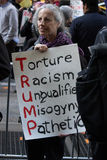 2016 galà repubblicani Anti-Trump protestano NYC Immagini Stock