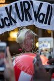 2016 galà repubblicani Anti-Trump protestano NYC Fotografie Stock Libere da Diritti
