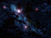 Galáxia azul Fotos de Stock