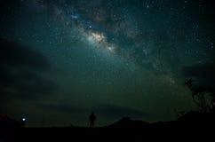 Galáxia da maneira foto de stock