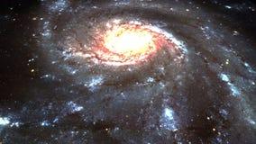 Galáxia de espiralamento 4k da supernova UHD ilustração do vetor