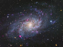 Galáxia de M33 Triangulum fotografia de stock