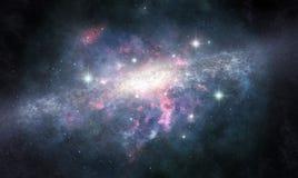 A galáxia desconhecida ilustração stock