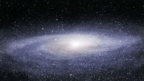 Galáxia distante loopable video estoque