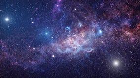 Galáxia e estrelas ilustração stock