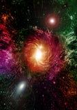 Galáxia em um espaço livre Fotos de Stock Royalty Free