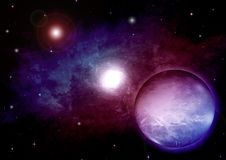 Galáxia em um espaço livre Foto de Stock