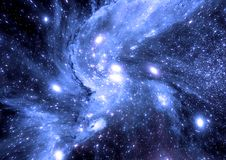 Galáxia em um espaço livre ilustração do vetor