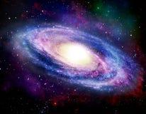 Galáxia espiral Fotos de Stock