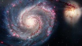 Galáxia espiral de giro Exploração do espaço profunda campos e nebulosa de estrela no espaço filme