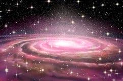 Galáxia espiral em spcae profundos ilustração do vetor