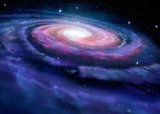 Galáxia espiral, ilustração da Via Látea
