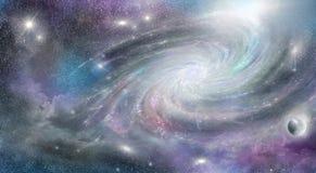 Galáxia espiral no espaço ilustração royalty free