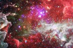 Galáxia impressionante no espaço Starfields do cosmos infinito ilustração do vetor