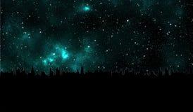 A galáxia protagoniza no universo fora do cartão do papel de parede do projeto gráfico do sumário da terra 3d ilustração royalty free