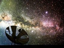 galáxia satélite da Via Látea da ruptura do disco no céu noturno Imagem de Stock