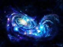 Galáxias de interação ilustração stock