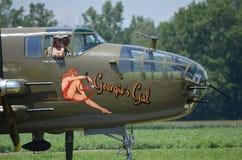 Galão de B-25J Mitchell Bomber Georgie norte-americano fotos de stock