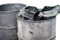 galão do óleo de motor velho imagem de stock royalty free