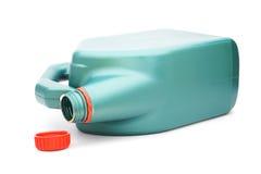 Galão plástico verde com tampa vermelha foto de stock