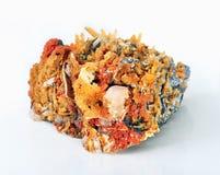 Galène, quartz et calcite Photo stock