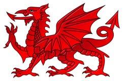 Galés Dragon With un efecto biselado Fotos de archivo