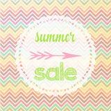 Galón de la muestra de la venta del verano Foto de archivo libre de regalías