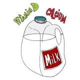 Galón de leche Imagen de archivo