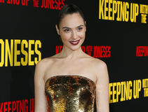 Gal Gadot. At the Los Angeles premiere of 'Keeping Up With The Joneses' held at the Fox Studios in Los Angeles, USA on October 8, 2016 Royalty Free Stock Photo