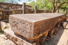 Gal Potha inscription or stone book in ancient city of Polonnaruwa, Sri Lanka Royalty Free Stock Photo