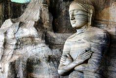 Gal Vihara菩萨雕象,斯里兰卡 库存照片