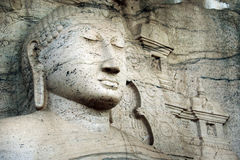 Gal Vihara菩萨雕象,斯里兰卡 图库摄影