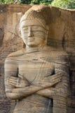 Gal Vihara,常设菩萨雕象 免版税图库摄影