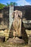 Gal Vihara & x28; 佛教寺庙在Nissankamallapura& x29; 库存照片