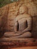 Gal Vihara Buddhist Statue carved from rock. Polonnaruwa, Sri La Royalty Free Stock Image