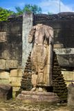 Gal Vihara & x28; Buddistisk tempel i Nissankamallapura& x29; arkivfoton