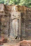 Gal Vihara, het Bevindende standbeeld van Boedha Stock Foto's