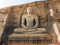 Gal Vihara, statue de Bouddha Images libres de droits