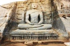 Gal Viharaya buddha statues in Polonnaruwa Stock Photos