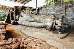 Gal Viharaya buddha statues in Polonnaruwa, Sri Lanka Royalty Free Stock Photography