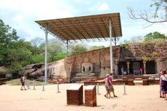Gal Vihare (het ?Heiligdom van de Steen?) Royalty-vrije Stock Fotografie