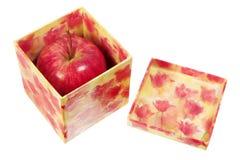 Gala Apple in Gift Box Stock Image