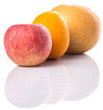 Gala Apples, Asian Pears And Orange IX Royalty Free Stock Image