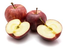 Gala apples isolated on white background Royalty Free Stock Photography
