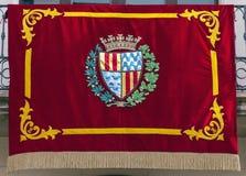 Gala Badalona σημαιών σε Diada Στοκ εικόνες με δικαίωμα ελεύθερης χρήσης